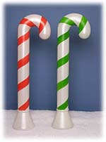40 inch red or green plastic candy cane illuminated item number upi 7688x - Candy Cane Outdoor Christmas Decorations